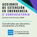 II Convocatoria a Acciones de Extensión en Emergencia