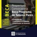 Convocatoria Programa de Tutores Pares