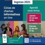 Ingreso 2021 – Ciclos de charlas informativas on line
