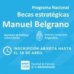 "Becas de Estudios ""Manuel Belgrano"""