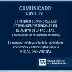 Aviso Importante: COVID 19