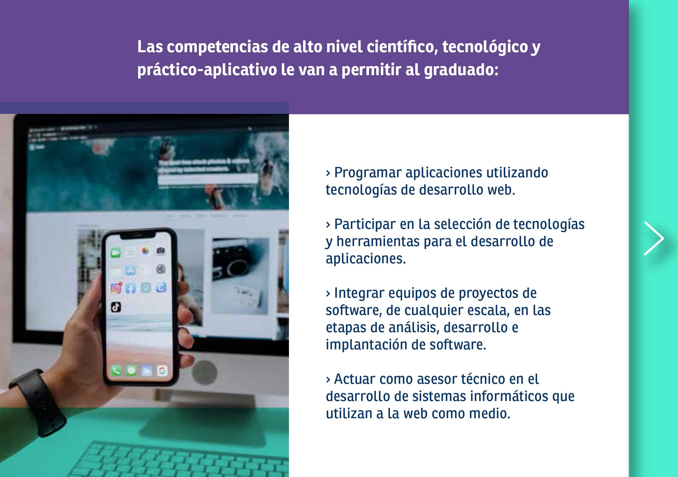Folleto Tecnicatura Universitaria en Desarrollo web